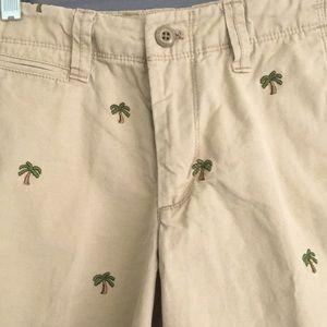 GAP Khaki with Palm Trees Shorts 28W